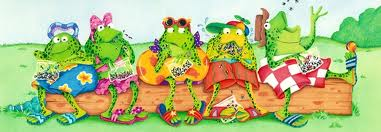 5 frogs on a log