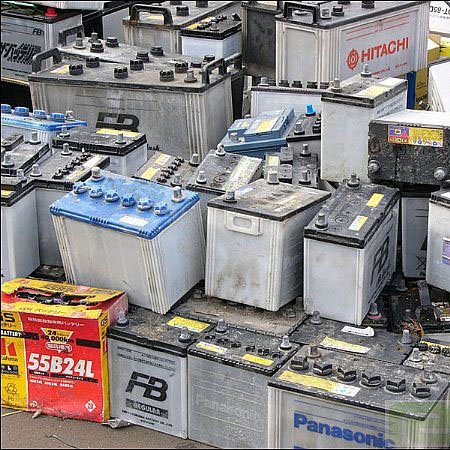 Waste car Batteries